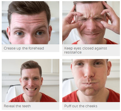 facial nerve examination