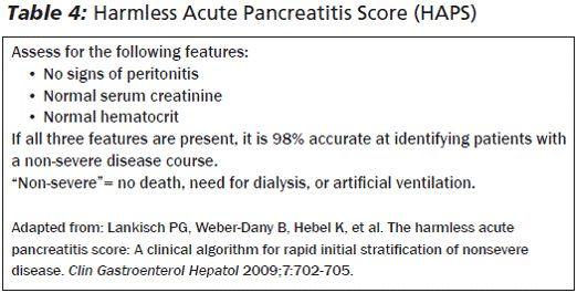HAPS acute pancreatitis