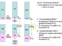 Concentration effect, Second gas effect and Diffusion hypoxia