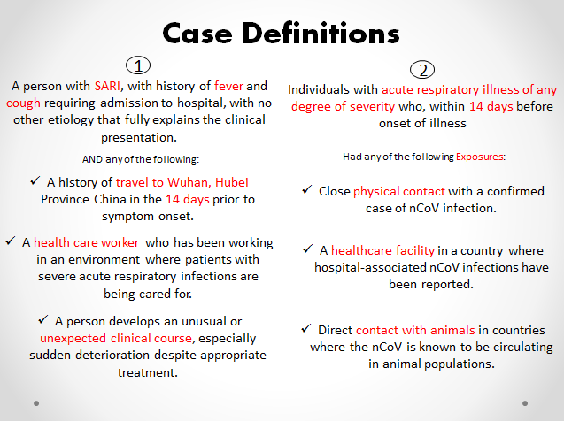 covid-19 case definitions