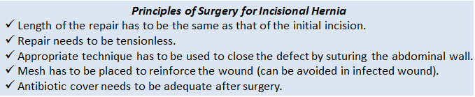 incisional hernia surgery principles